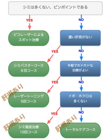 シミ治療フローチャート4